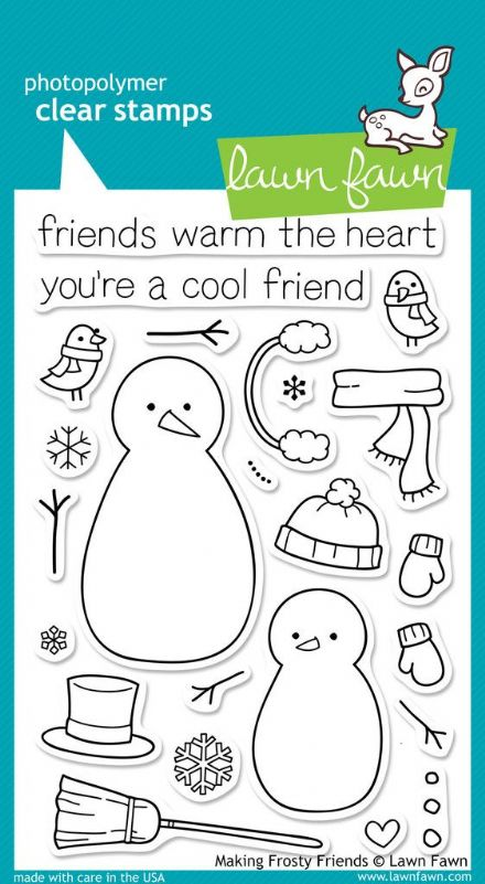LF0362 ~ MAKING FROSTY FRIENDS ~ CLEAR STAMPS BY LAWN FAWN